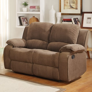 Marcelle Double Recliner Polyester Loveseat