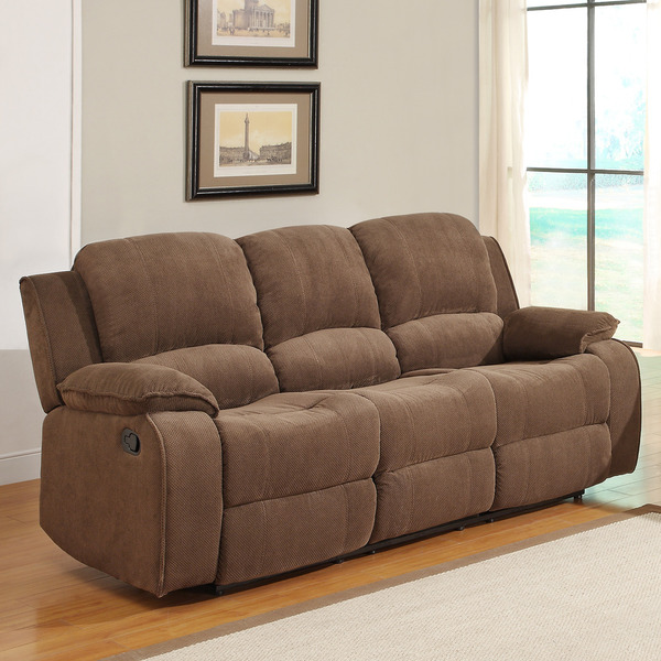 Marcelle Double Recliner Polyester Sofa