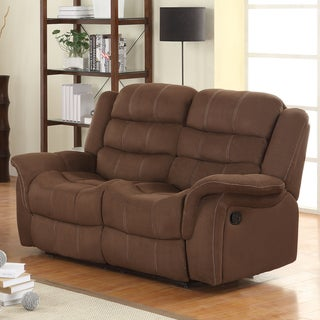 Jardin Chocolate Polyester Double Recliner Loveseat