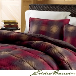 Eddie Bauer Nordic Plaid Red Down Alternative Comforter Set
