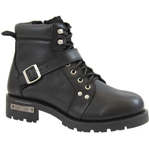 Men's AdTec 9143 YKK Zipper Boot 6in Black
