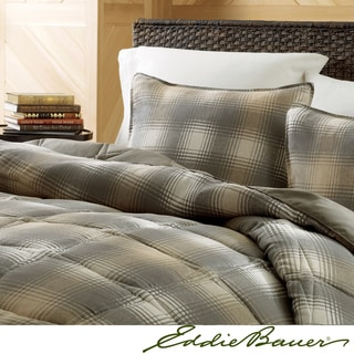 Eddie Bauer Nordic Plaid Dune Down Alternative Comforter Set