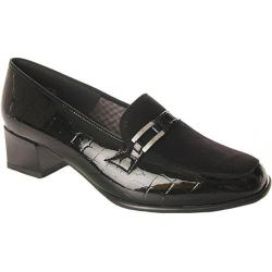 Women's Ara Lyon 42077 Black Faux Croco/Suede