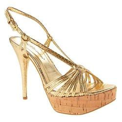 Women's BCBGeneration Santos Gold/Natural Metalic/Cork