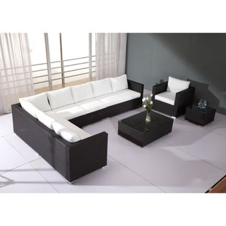 Sectional All-Weather Wicker Outdoor Lounge Set by Beliani