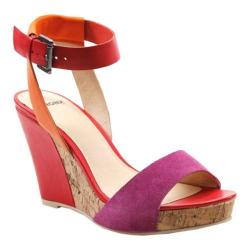 Women's Bronx Sit Still Fuchsia/Papaya Suede