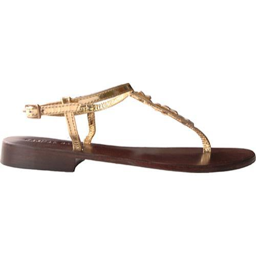 Women's Casual Barn CBS0039 Metallic Gold Leather
