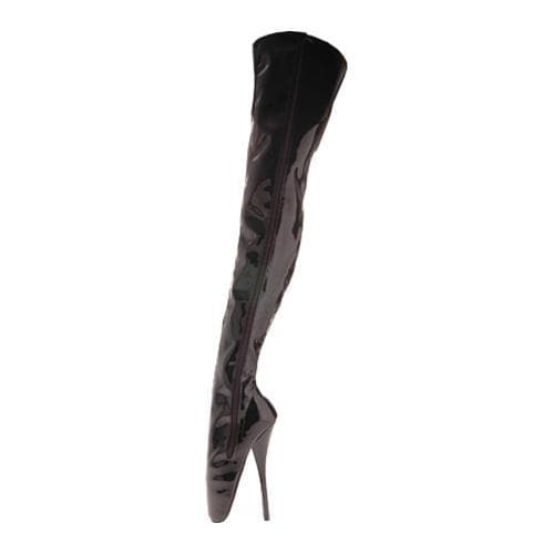 Women's Devious Ballet-3000 Black Stretch Patent/Zipper