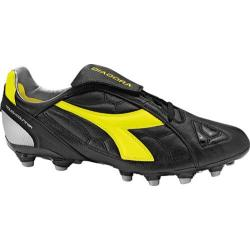 Men's Diadora DD-Eleven LT MG 14 Black/Yellow Fluorescent