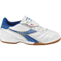 Children's Diadora Forza ID JR White/Royal/Metallic Gold