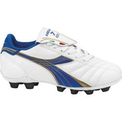 Children's Diadora Forza MD JR White/Royal/Metallic Gold