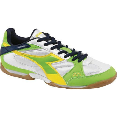 Men's Diadora Quinto ID White/Acid Green