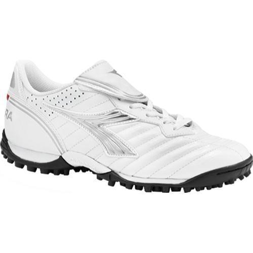 Women's Diadora Scudetto LT TF White/Silver/Black