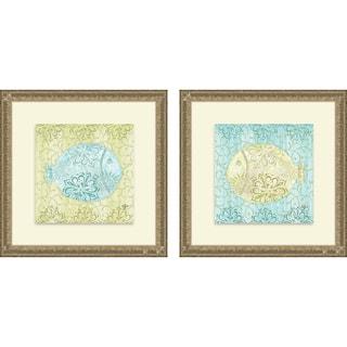 Rebecca Lyon 'Under the Sea I & II' Framed Print