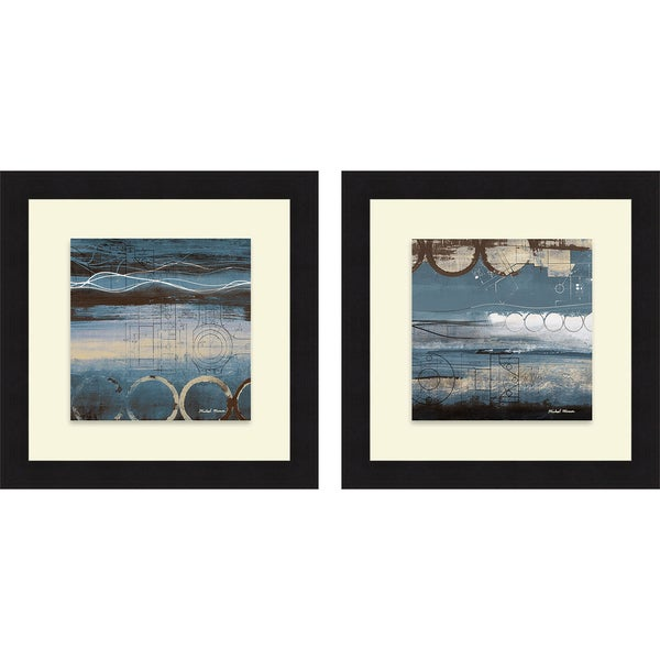 Michael Marcon 'Blueprint I & II' Framed Print