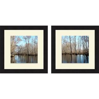 Jairo Rodriguez 'Among the Trees I & II' Framed Print
