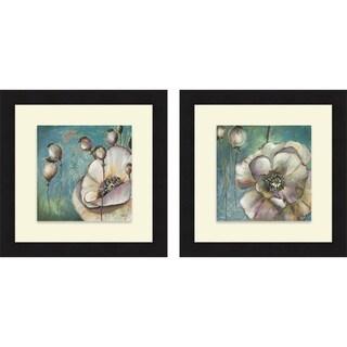Patricia Pinto 'Blue Poppies I & II' Framed Print