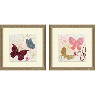 Sd Graphics Studio 'Fly Away I & II' Framed Print