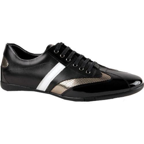 Men's GooDoo Classic 006 Black/White Calf/Black/Gold Patent Leather