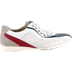 Men's GooDoo Classic 007 White/Navy/Red Leather
