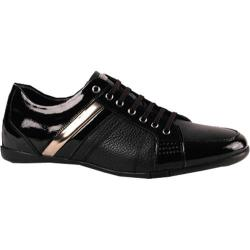 Men's GooDoo Classic 009 Black Leather/Black/Gold Patent Leather