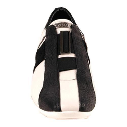Men's GooDoo Classic 010 White Calf/Black Suede