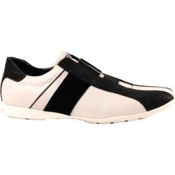 Men's GooDoo Classic 010 White Calf/Black Suede