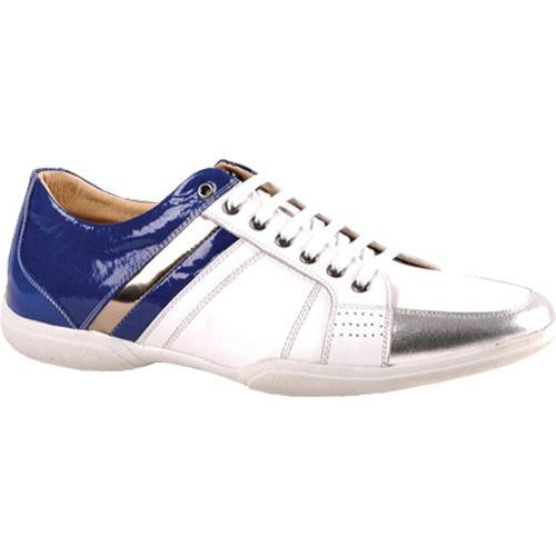 Men's GooDoo Classic 011 White/Sliver Calf/Blue Patent Leather