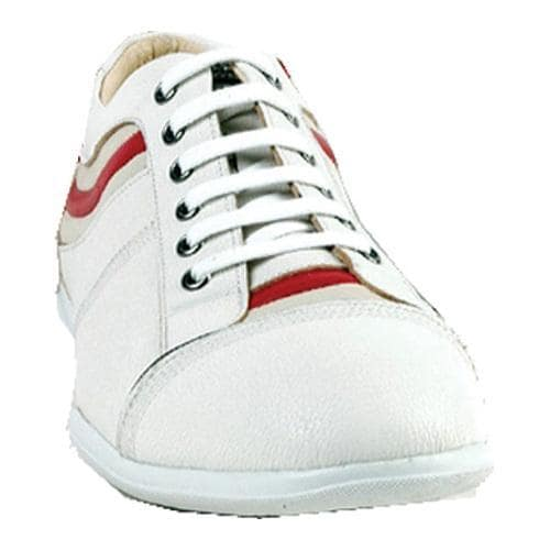 Men's GooDoo Sporty 004 White/Ivory/Red Calf