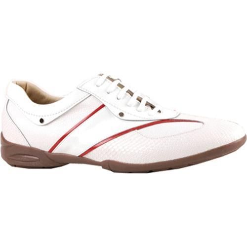Men's GooDoo Sporty 005 White/Red Calf