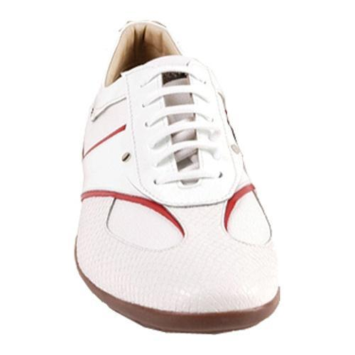 Men's GooDoo Sporty 005 White/Red Calf