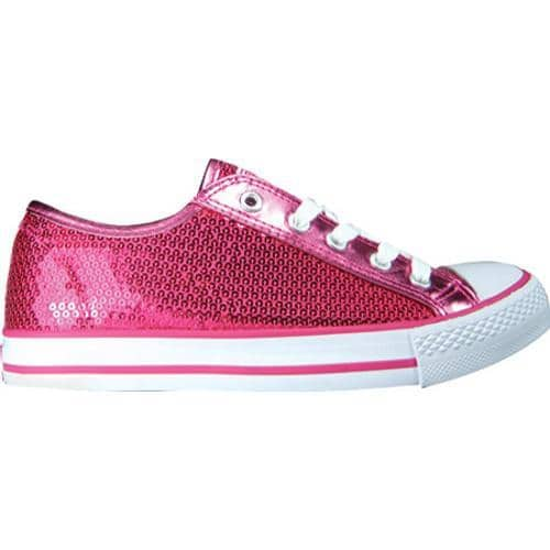Women's Gotta Flurt Disco Hot Pink Textile/Sequin