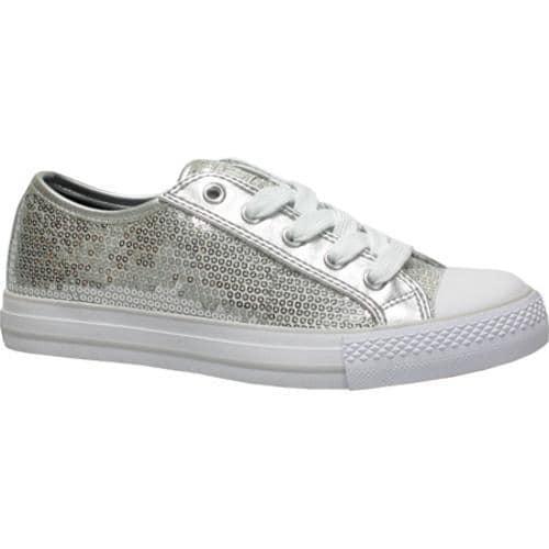 Women's Gotta Flurt Disco Silver Textile/Sequin