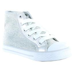 Girls' Gotta Flurt Hi Disco Silver Sequin