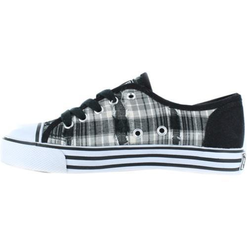 Girls' Gotta Flurt Lenwood Black/White Plaid