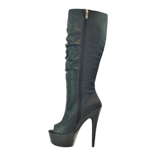 Women's Highest Heel Amber-91 Black Soft PU