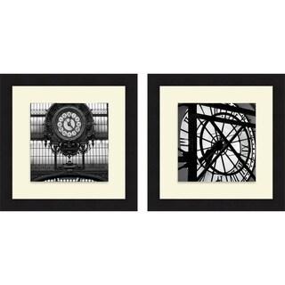 Alison Jerry 'Paris Clock I & II' Framed Print