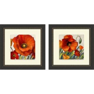 Lanie Loreth 'Poppy Splendor Square I & II' Framed Print