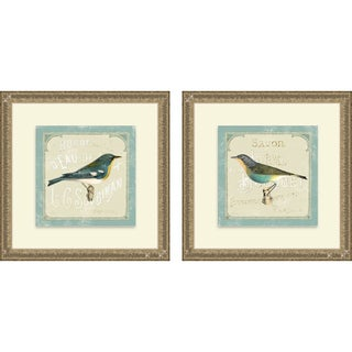 Sue Schlabach 'Parisian Bird I & II' Framed Print