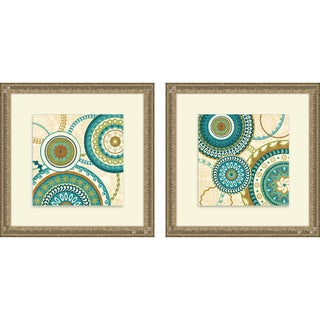 Veronique Charron 'Owl Forest Suzani I & II' Framed Print