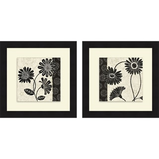 Daphne Brissonnet 'Influence I & II' Framed Print