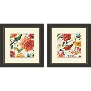 Lisa Audit 'Rainbow Garden II & III' Framed Print