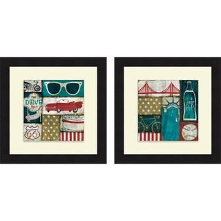 Mo Mullan 'American Pop I & II' Framed Print