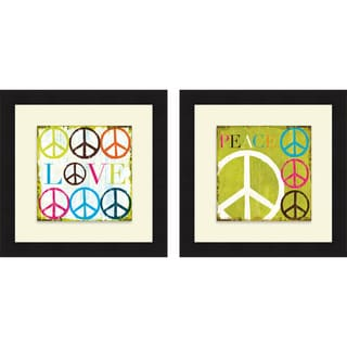 Mo Mullan 'Love & Peace' Framed Print