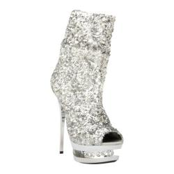 Women's Highest Heel Diamond-31 Silver Sequin