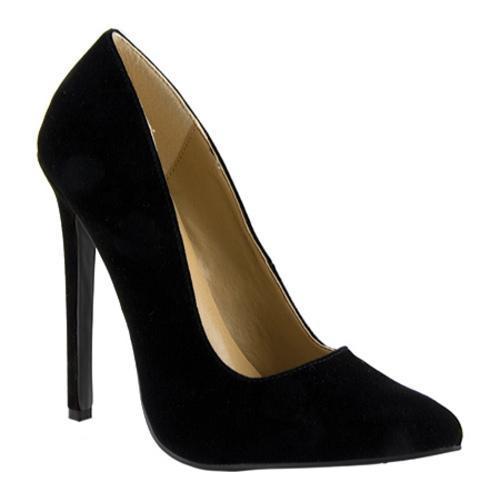 Women's Highest Heel Hottie Black Velvet Patent
