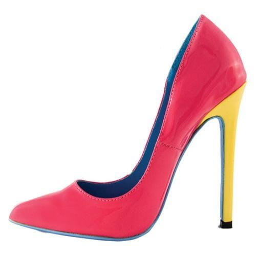 Women's Highest Heel Hottie Fuchsia Patent Mix