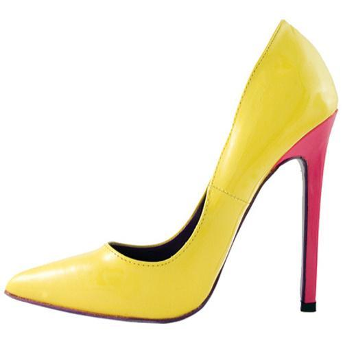 Women's Highest Heel Hottie Yellow Patent Mix