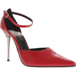 Women's Highest Heel Slick Red PU