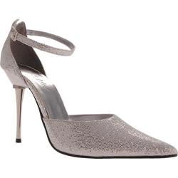 Women's Highest Heel Slick Silver Glitter
